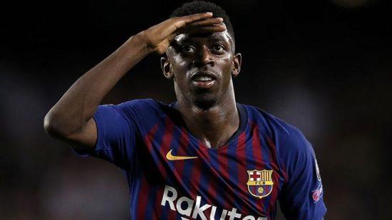 Ousmane Dembélé com a camisa do Barcelona (Foto: Getty Images)