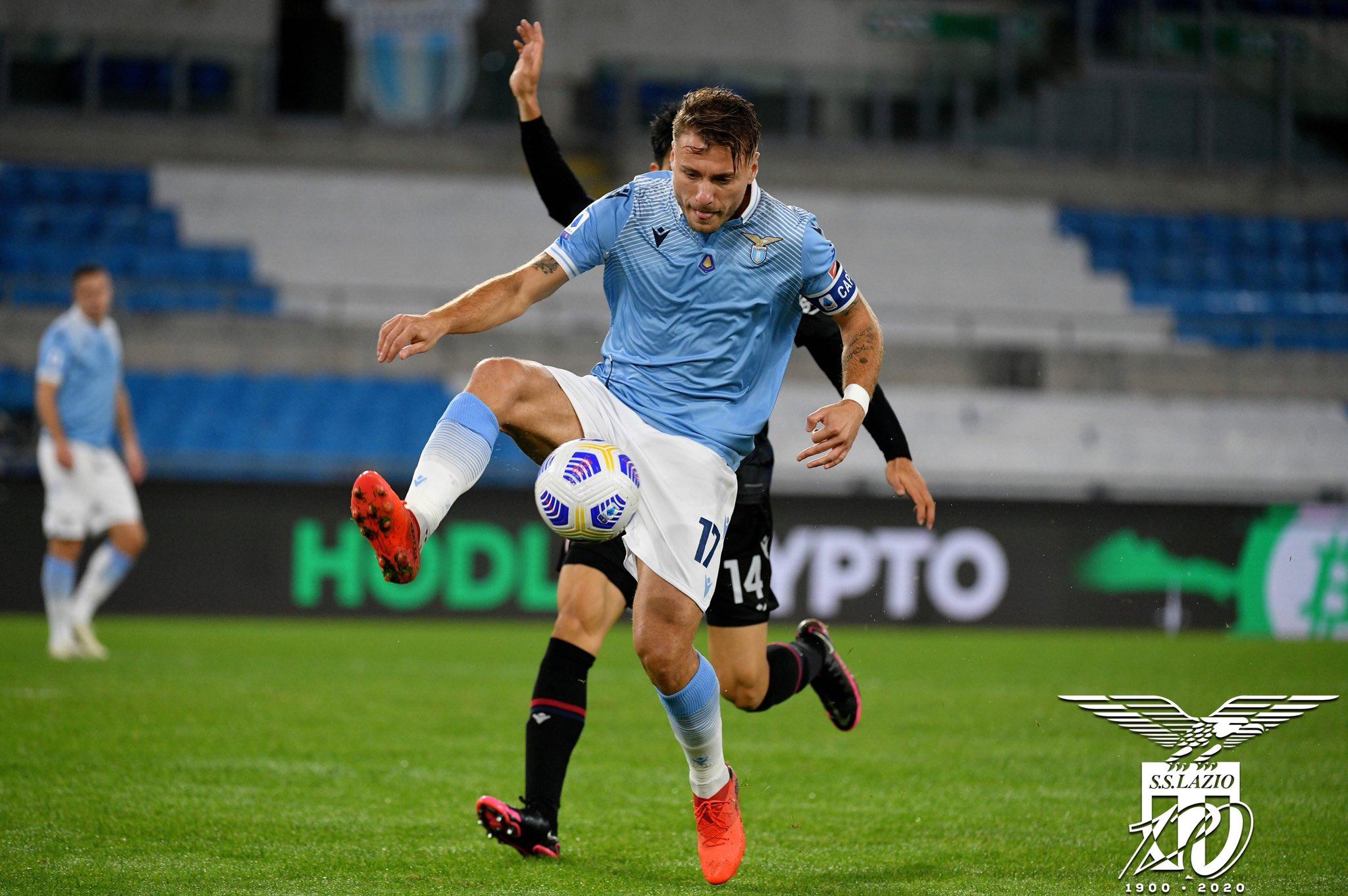 Com gols de Immobile e Luis Alberto, Lazio vence mais uma