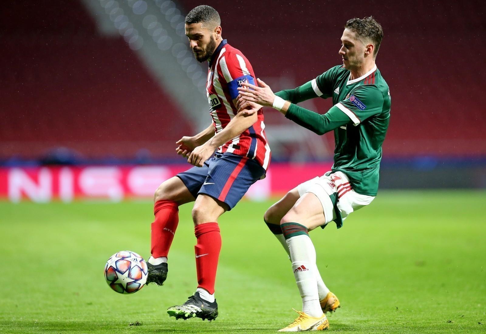Atlético de Madrid pressionou mas ficou no empate diante do Lokomotiv